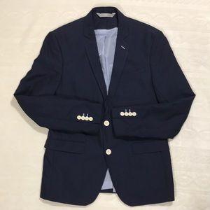 Zara Man Navy Blue 2 Button Blazer sz 40